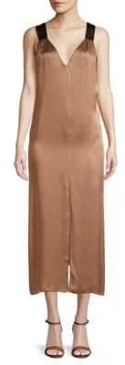 Brunello Cucinelli Sleeveless V-Neck Midi Dress