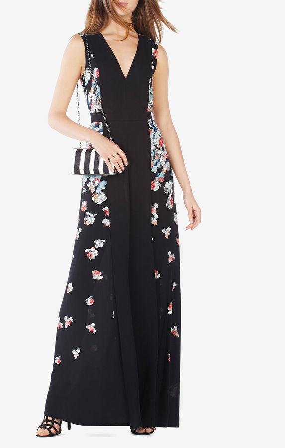 BCBGMAXAZRIAEtta Floral Print Gown