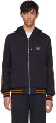 Dolce & Gabbana Navy Embellished Zip Hoodie