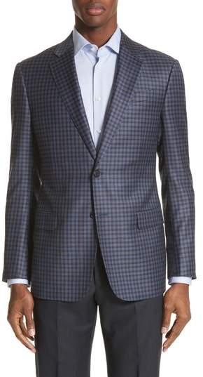 G Line Trim Fit Check Wool Sport Coat
