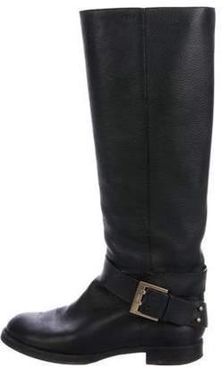 Chloé Mid-Calf Leather Boots