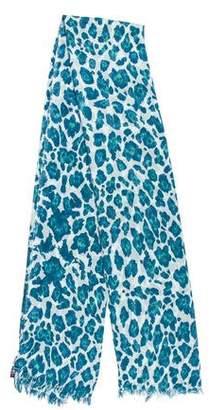 Stella McCartney Animal Print Silk-Blend Scarf