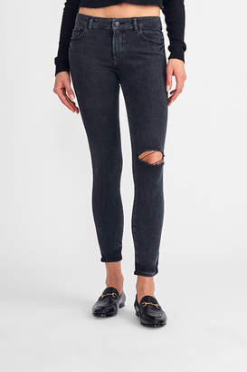 DL1961 Margaux Mid Rise Skinny Ankle Hyde