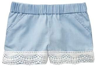 Crazy 8 Chambray Crochet Trim Shorts