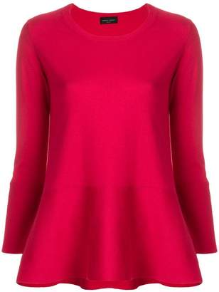 Roberto Collina long sleeved peplum T-shirt