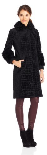 Tracy Reese Women's Fur Trim Coat