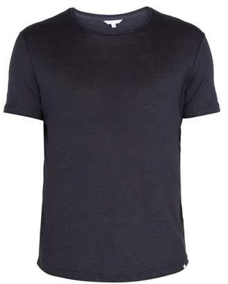 Orlebar Brown Ob T Crew Neck Linen Jersey T Shirt - Mens - Navy