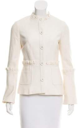 Tory Burch Lightweight Wool and Rabbit Hair Jacket