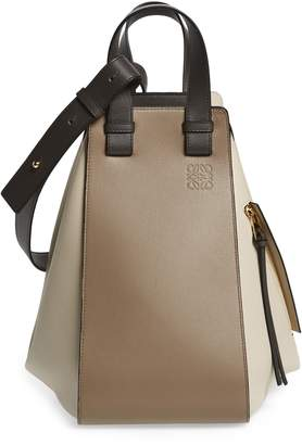 Loewe Medium Hammock Tricolor Leather Hobo