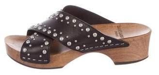 Saint Laurent Studded Crossover Sandals