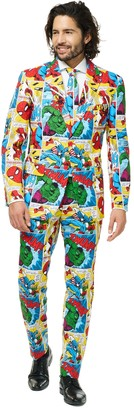 DAY Birger et Mikkelsen Opposuits Men's OppoSuits Slim-Fit Marvel Comics Suit & Tie Set