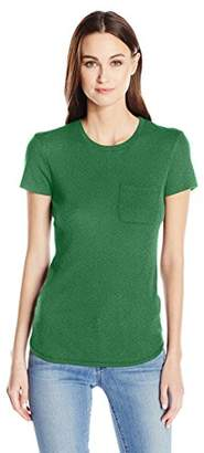 Three Dots Women's Cap Sleeve Boy Tee