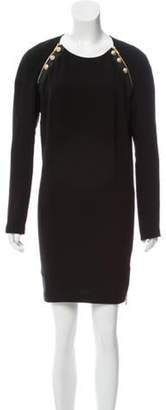Barbara Bui Long Sleeve Mini Dress Black Long Sleeve Mini Dress