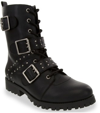 Sugar Sammi Women's Triple Strap Combat Boots