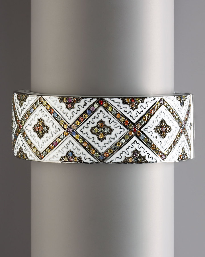 MCL by Matthew Campbell Laurenza Persian Graphic Cuff Bangle