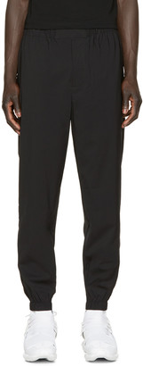 Alexander Wang Black Wool Track Pants $495 thestylecure.com