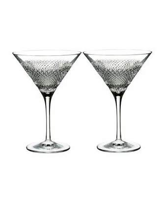 Waterford Crystal Diamond Line Martini Glasses, Set of Two