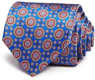 Canali Large Octagonal Medallion Classic Tie $180 thestylecure.com