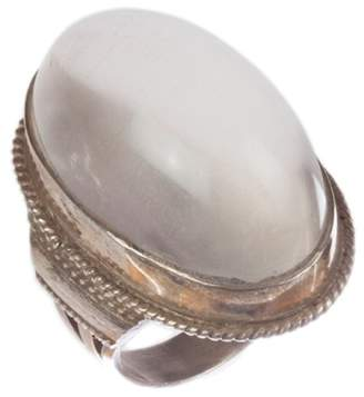 Massive Grey Moonstone Cabochon Cocktail Ring