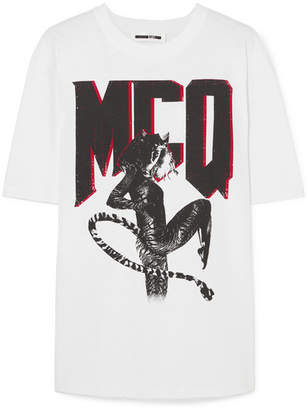 McQ Printed Cotton-jersey T-shirt - White
