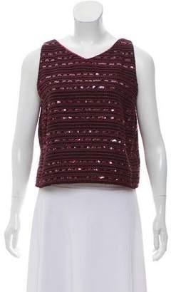Chanel Sequin Crop Top