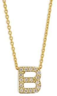 Roberto Coin Tiny Treasures 18K Yellow Gold& Diamond Letter B Necklace
