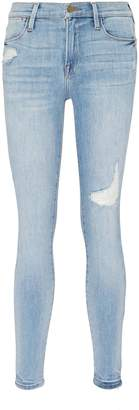 Frame 'Le High Skinny' ripped jeans