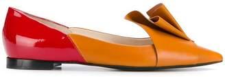 DELPOZO Pleated ballerina shoes