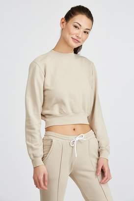Cotton Citizen The Milan Cropped Crewneck Sweatshirt