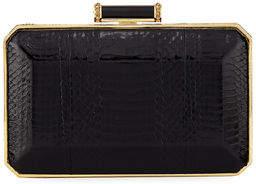 Judith Leiber Couture Soho Snakeskin Box Clutch Bag