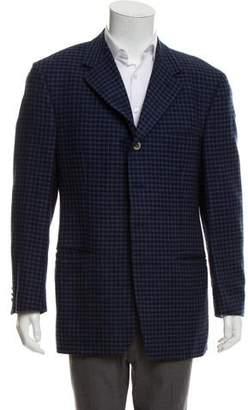 Versace Two-Button Knit Blazer