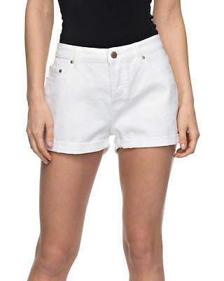 Roxy NEW ROXYTM Womens Cosy Moment White Denim Short Womens Shorts