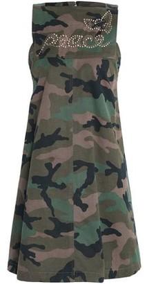 Valentino Studded Printed Cotton-Gabardine Mini Dress