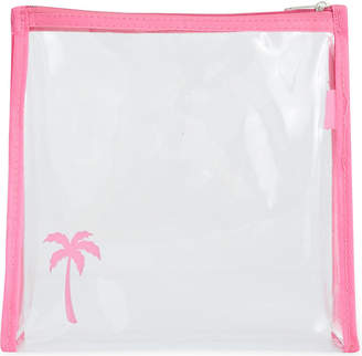 clear ROCKET BAGS Palm tree travel bag
