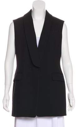 Whistles Wool-Blend Shawl Collared Vest