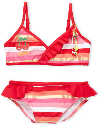Juicy Couture Girls 7-16) Cherry Good Friends Stripe Bikini Set