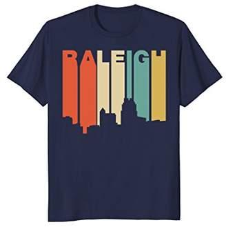 Raleigh Retro 1970's Style North Carolina Skyline T-Shirt
