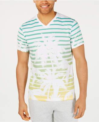 American Rag Men Striped Palm V-Neck T-Shirt