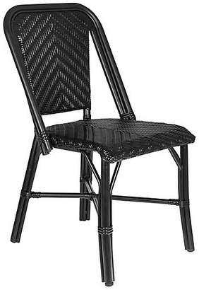 Tiab Inc. Modern Outdoor Bistro Side Chair - Black