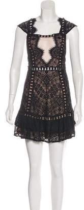 For Love & Lemons Semi-Sheer Lace Dress