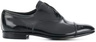 Premiata varnished laceless loafers