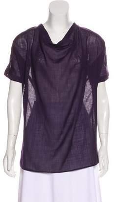 Jenni Kayne Semi-Sheer Short Sleeve Top