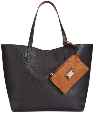 Style & Co Clean Cut Reversible Tote with Wristlet, Created for Macy's $88.50 thestylecure.com