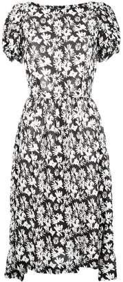 Comme des Garcons floral print pleated dress