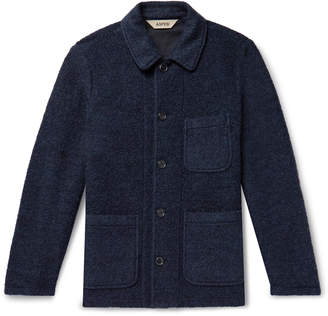 Aspesi Brushed Wool and Cotton-Blend Coat - Men - Blue