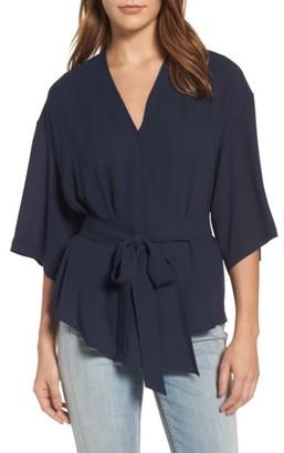 Women's Trouve Wrap Blouse $69 thestylecure.com