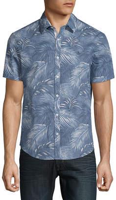Original Penguin Leaf-Print Button-Down Shirt