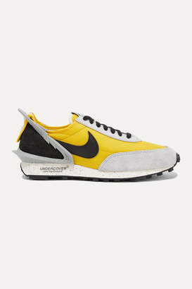 Nike Undercover Daybreak Shell, Suede And Leather Sneakers - Yellow