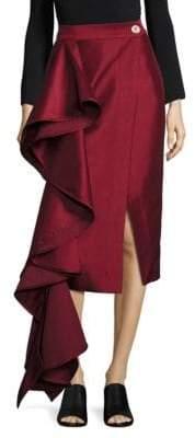 SOLACE London Aideen Cascade Pencil Skirt