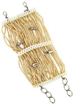 Erickson Beamon Faux Pearl Spike Multistrand Bracelet